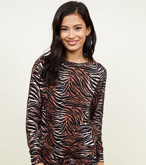 2f74fb0d17 ... Brown Soft Touch Tiger Print Sweatshirt ...