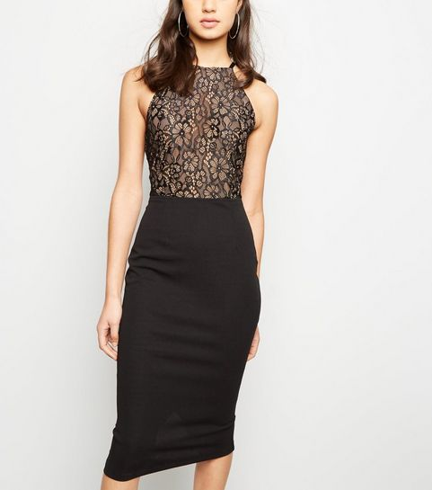 ... AX Paris Black 2 in 1 Lace Midi Dress ... 336f0585a