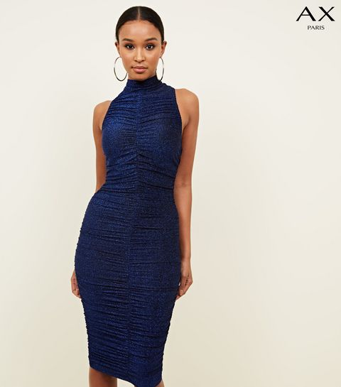 90c869538ec ... AX Paris Ruched Midi Dress ...