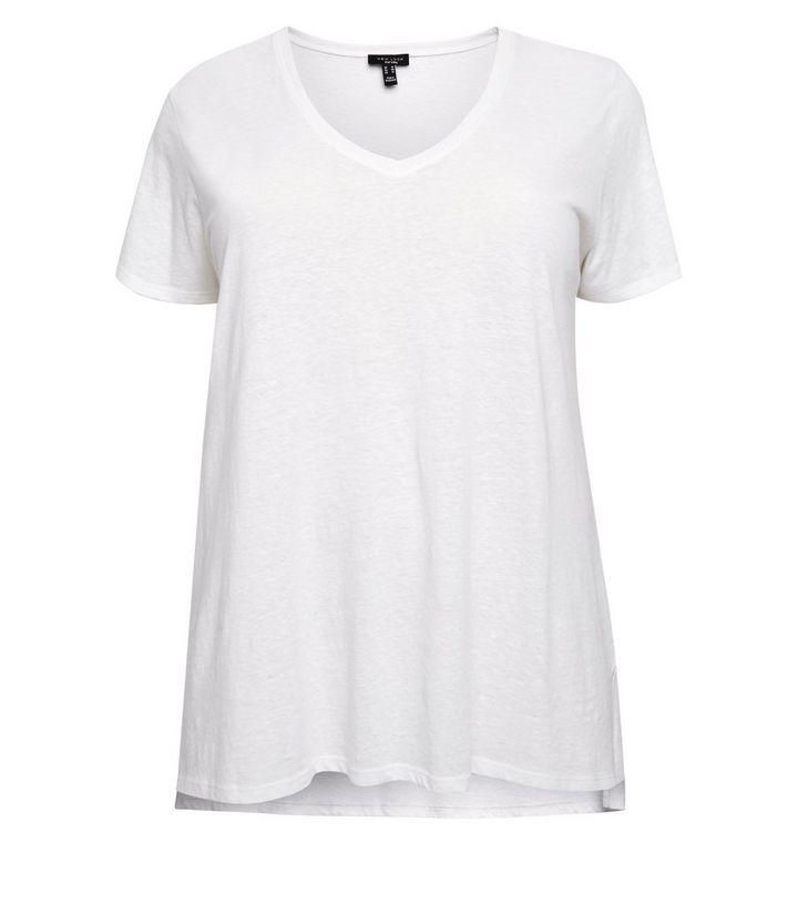 9afc143117 ... Curves Off White V Neck Step Hem T-Shirt. ×. ×. ×. Shop the look