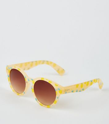Girls Orange Pineapple Sunglasses