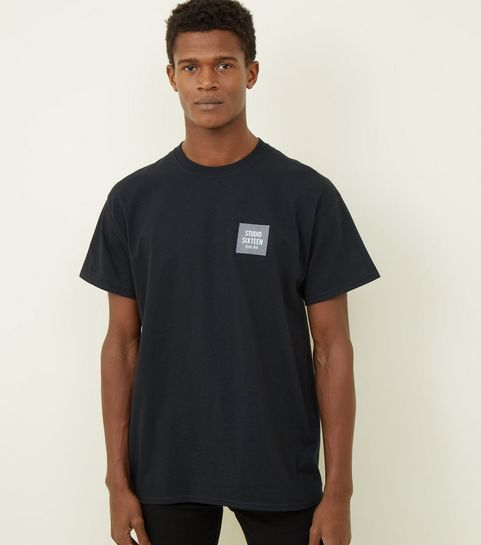 323aa0d6efe ... Black Studio Sixteen Check Print T-Shirt ...