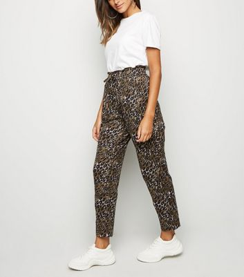 Green Leopard Print Soft Touch Joggers