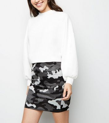 Black Camo Tube Skirt