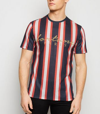 Red Stripe Fortune Slogan T-Shirt