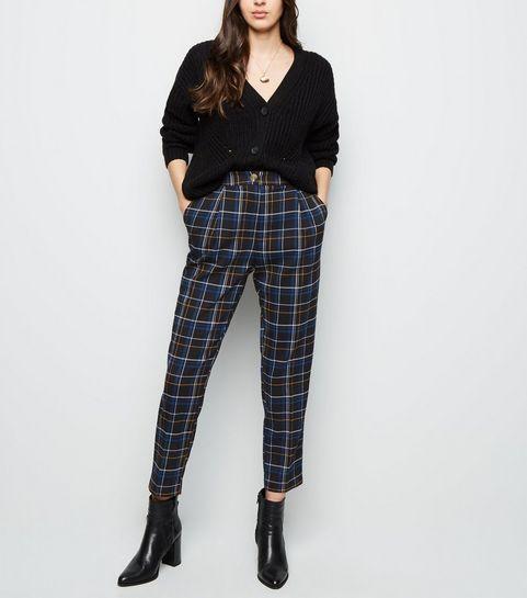 97bef2ca5bd57 ... Black Check Slim Leg Trousers ...