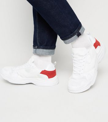 White Panelled Chunky Trainers