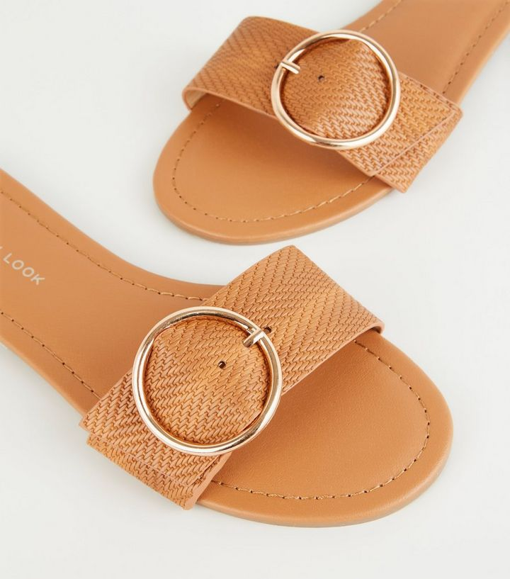 ca068b2c012c ... Wide Fit Tan Woven Strap Sliders. ×. ×. ×. Shop the look