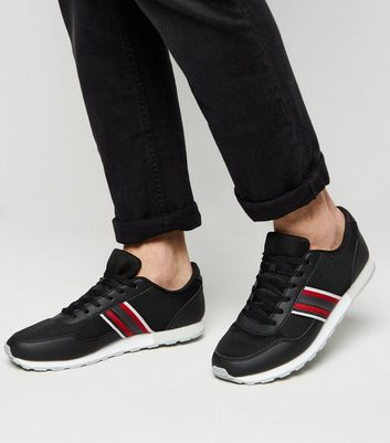 Black Side Stripe Contrast Soul Trainers