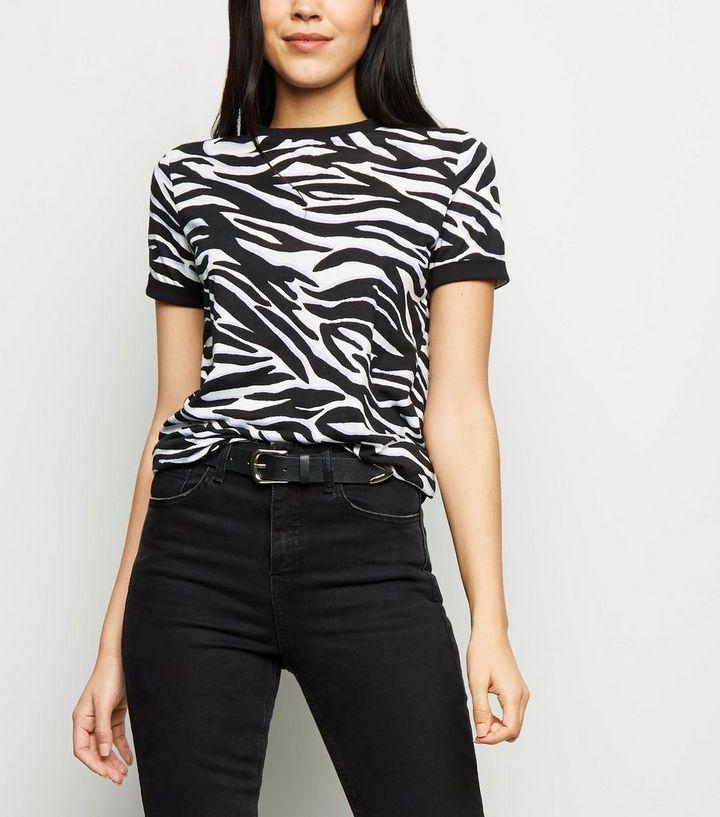 adbd16b03 Tall Purple Zebra Print T-Shirt | New Look
