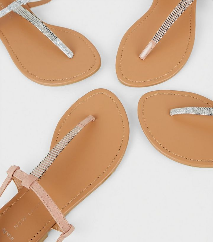 024b965efd3 ... Wide Fit Nude Bar Strap Flat Sandals. ×. ×. ×. Shop the look