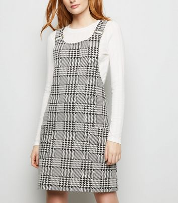 Tall Mixed Houndstooth Check Pinafore Dress