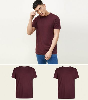 2 Pack Burgundy T-Shirts