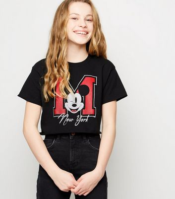 Girls Black Mickey Mouse Disney T-Shirt