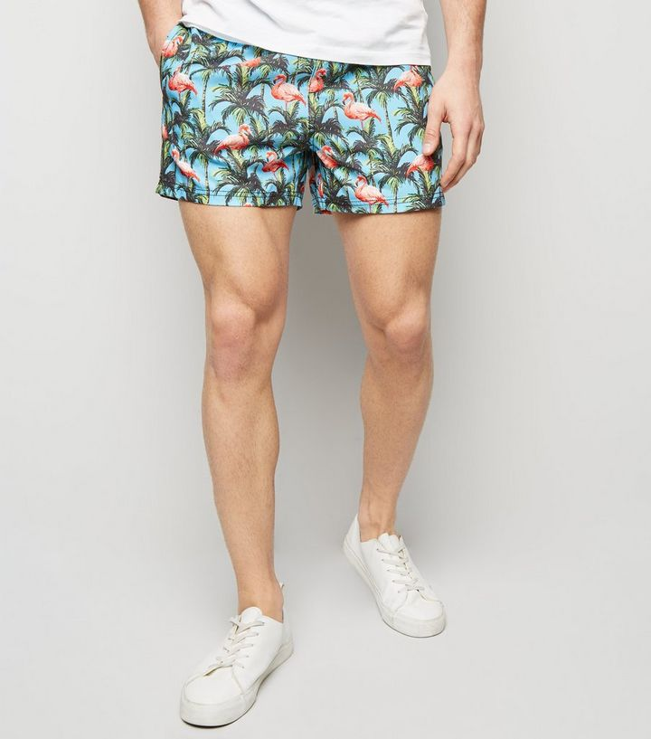 43c51b5557d Turquoise Flamingo Print Swim Shorts Add to Saved Items Remove from Saved  Items