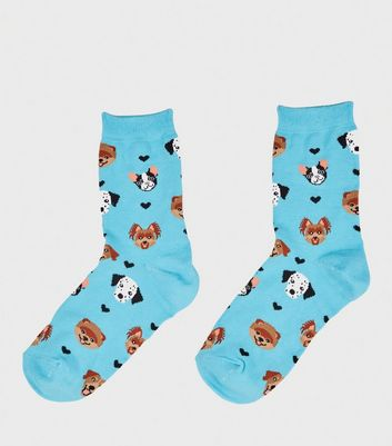 Bright Blue Dog Lover Socks