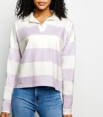 Lilac Stripe Rugby Shirt