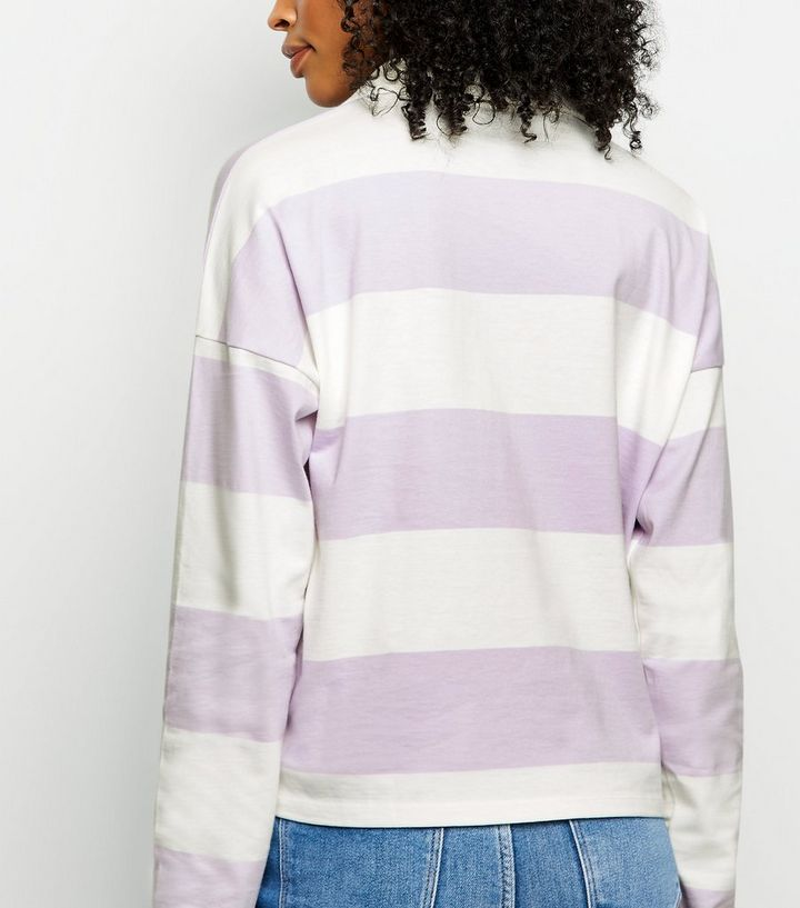 Lilac Stripe Rugby Shirt Add To Saved Items Remove From