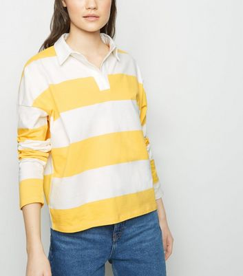 Yellow Stripe Rugby Shirt