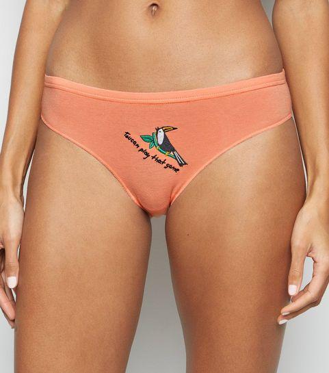 e9ecb47ef6 ... Coral Toucan Game Slogan Bikini Briefs ...