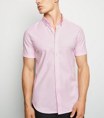 Pink Short Sleeve Muscle Fit Shirt