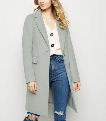 Mint Green Single Breasted Formal Coat