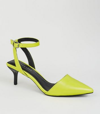 5850154627b Yellow Neon Square Back Kitten Heel Courts Add to Saved Items Remove from  Saved Items