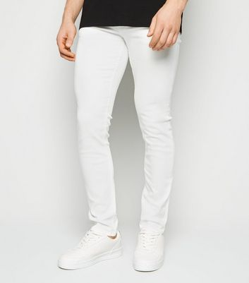 White Skinny Stretch Jeans