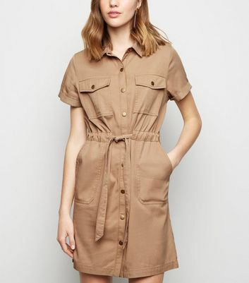 Stone Lightweight Utility Dress