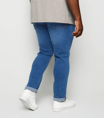 Plus Size Blue Ripped Knee Skinny Jeans Add to Saved Items Remove from Saved Items