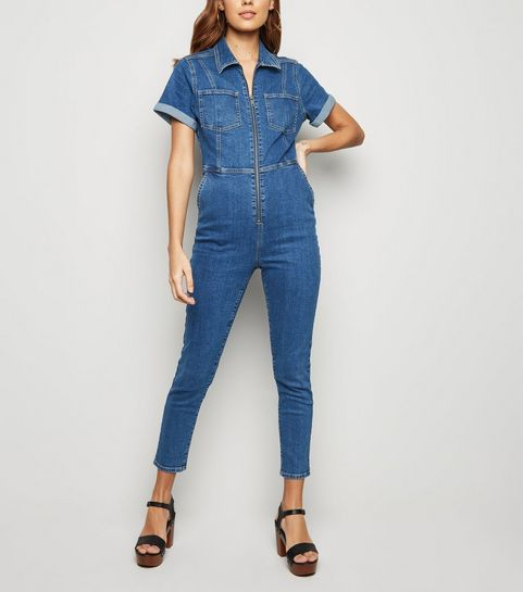 e24d030f080d Blue Zip Denim Jumpsuit · Blue Zip Denim Jumpsuit ...