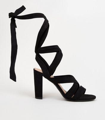 black tie strap sandals