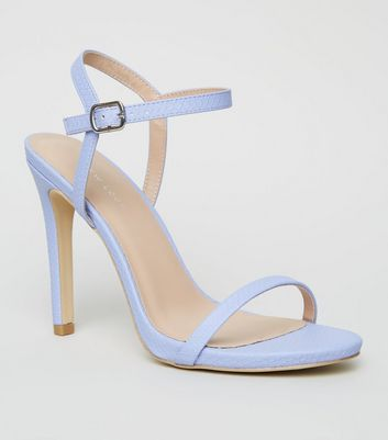 Lilac Faux Snake Barely There Stilettos