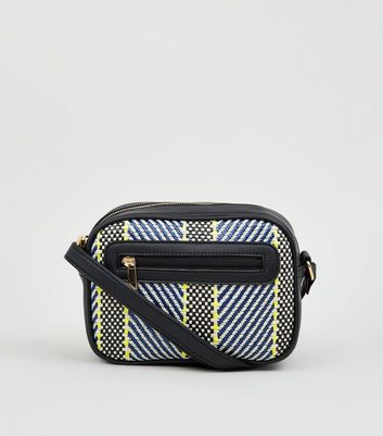 Green Neon Woven Cross Body Bag