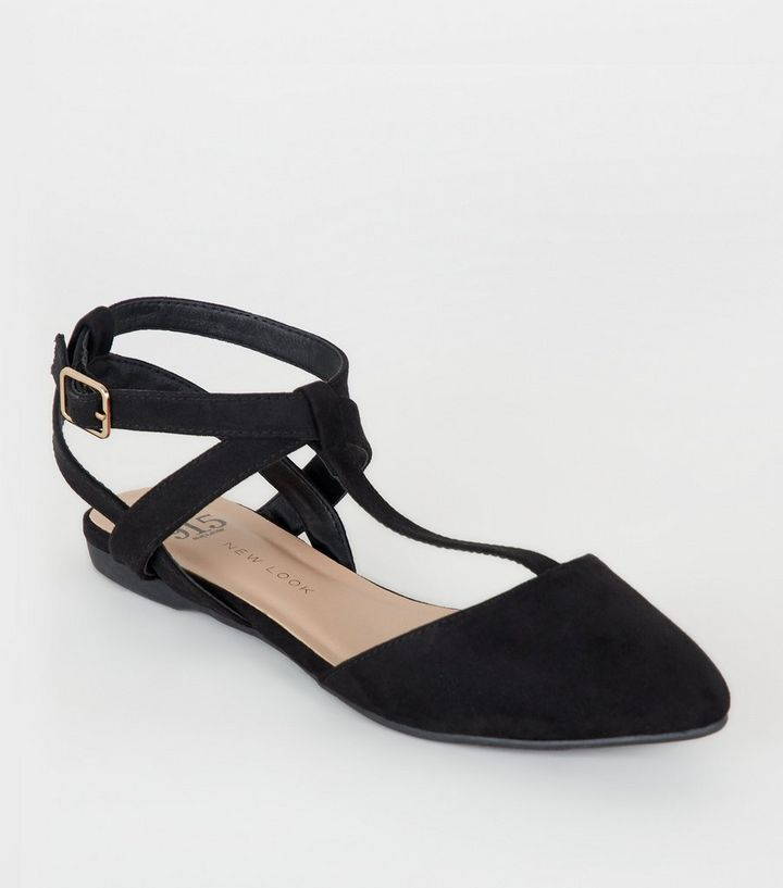 ed36e191470 Girls Black T-Bar Strappy Pumps Add to Saved Items Remove from Saved Items