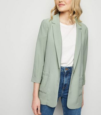 Light Green Lightweight Blazer