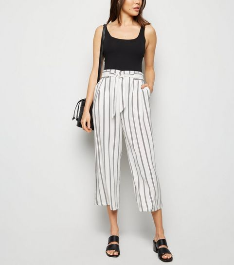 a830387c37f1b Striped Trousers   Black & White Striped Trousers   New Look