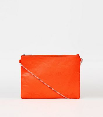 Bright Orange Neon Cross Body Bag