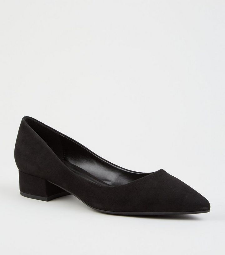 a25e3d3fa11 Black Suedette Pointed Court Shoes Add to Saved Items Remove from Saved  Items