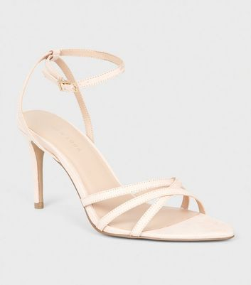 Nude Suedette Strappy Pointed Toe Sandals