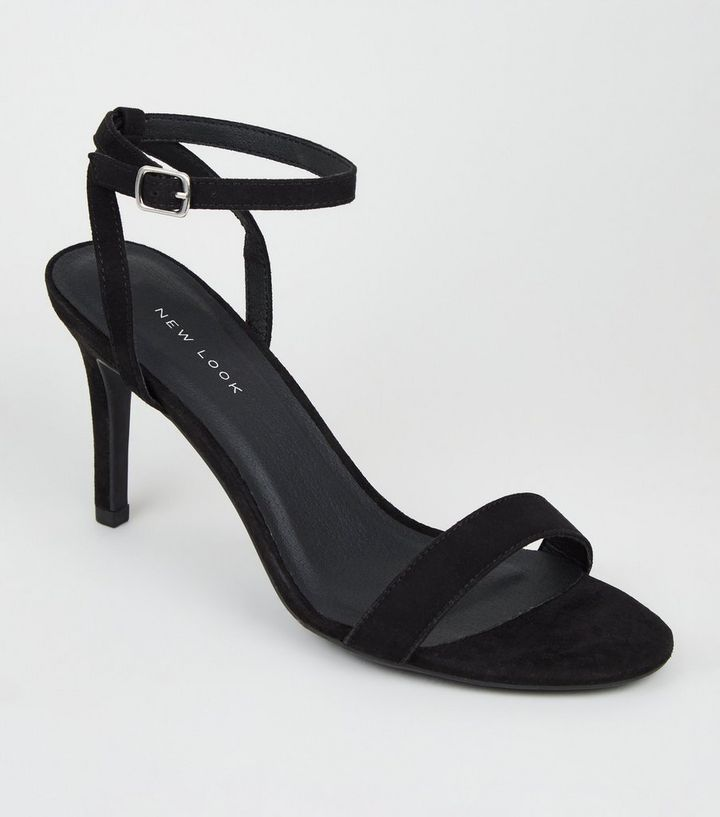 schwarze riemchen high heels