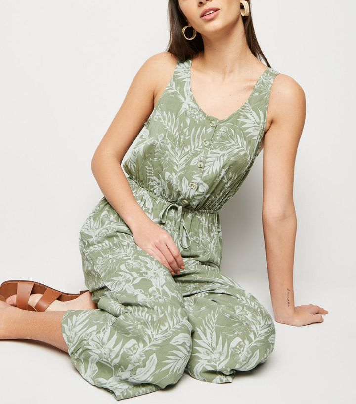 1dbadf8bfa8 ... Green Leaf Print Button Up Jumpsuit. ×. ×. ×. Shop the look