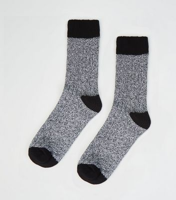 Black Thick Boot Socks