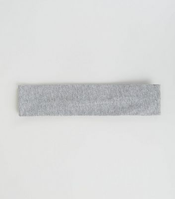 Grey Stretch Jersey Sports Headband