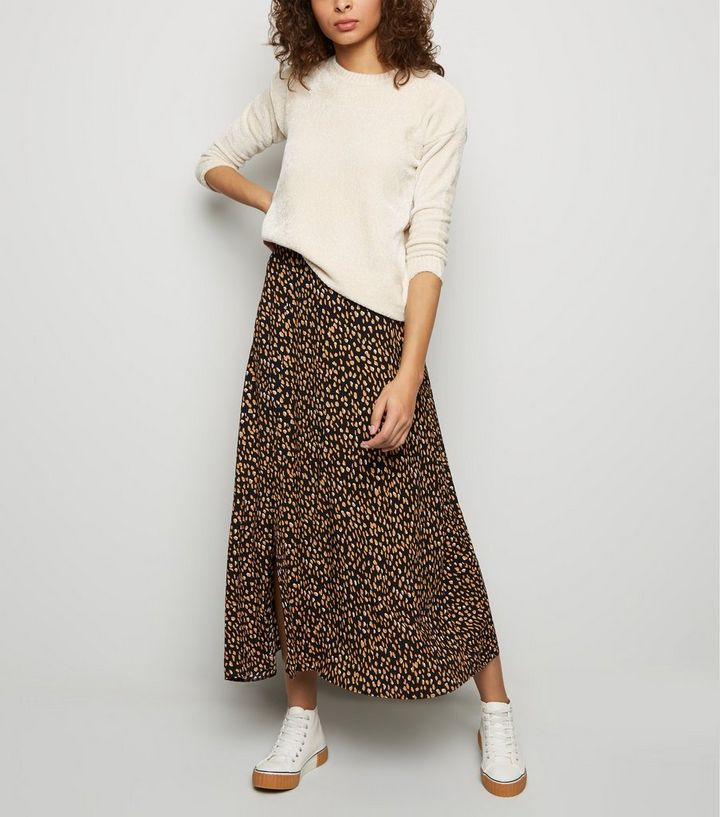 popular design best place special sales Tall Black Abstract Spot Midi Skirt Add to Saved Items Remove from Saved  Items