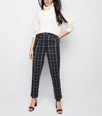 Tall Black Check Trousers