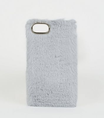 Grey Faux Fur iPhone 6/6s/7/8 Case