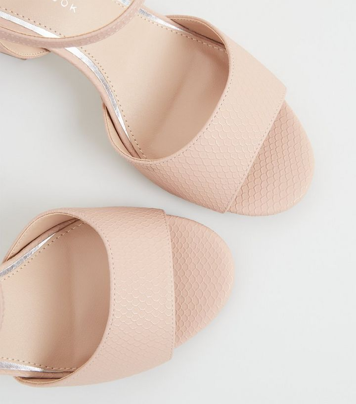 b6f5fe96ff8 ... Nude Faux Snake Block Heels. ×. ×. ×. Shop the look