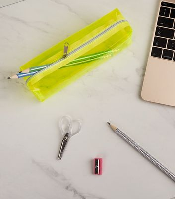Yellow Neon Tinted Pencil Case