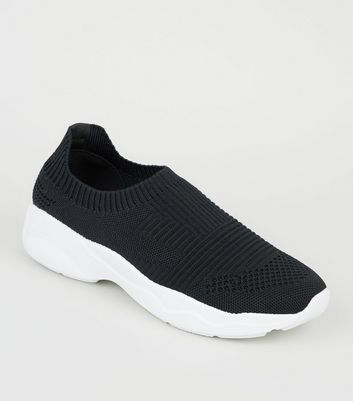 Black Knit Sock Trainers